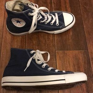 Navy Blue Hi-Top Converse W8 M6